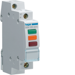 SVN129 Triple ind. light red,  green,  orang 230VAC