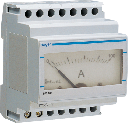 SM100 Analogue ammeter 0-100A indirect reading