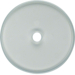 1090 Coverplate for rotary switch clear glass